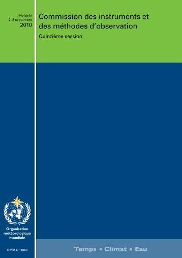 Commission des instruments et des méthodes d ... - E-Library - WMO