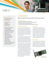 LSI SAS 9200-8e Product Brief - Epecom Graphics