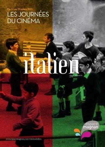 Brochure des 28 es Journées du Cinéma Italien - Espace Magnan