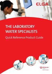 The LaboraTory WaTer SpeciaLiSTS - Elga Process Water