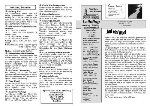 2011-40 Gottesdienstordnung - Pfarrei Leiblfing