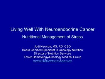 Living Well With Carcinoid - Caring for Carcinoid Foundation