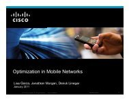 Optimization in Mobile Networks - Cisco Knowledge Network