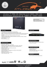 "Atlona 7"" PRO HD Monitor with HDMI, VGA and Component Inputs ..."