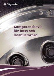 Kompetensbevis för buss och lastbilsförare