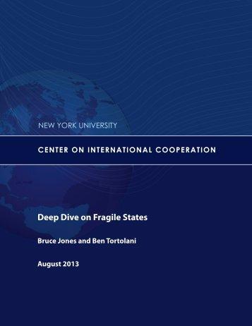 Deep Dive on Fragile States - Center on International Cooperation