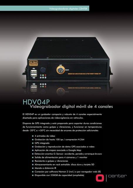 CENTER - Grabador digital movil HDV04P - CCTV Center