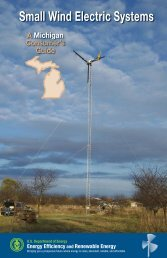 Small Wind Electric Systems: A Michigan Consumer's Guide