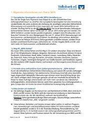 1. Allgemeine Informationen zum Thema SEPA - Volksbank eG ...