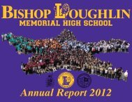 Annual Report 2012 - Bishop Loughlin Memorial High School