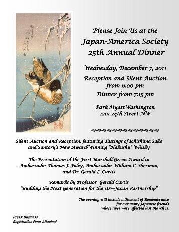 Japan-America Society America Society America ... - U.S.- Japan Links