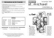 November 2007 - Katholische Gemeinde St. Michael (Rendsburg)