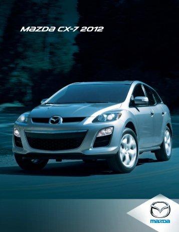 Brochure du CX-7 2012 - Mazda Canada