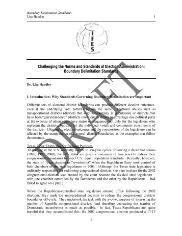 """delimitation of electoral boundaries a Meaning of """"delimitation"""" in the english dictionary english english redistribution is a form of boundary delimitation that changes electoral district."""