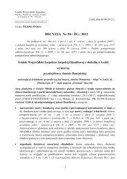 DECYZJA Nr 50 / ŻG / 2012 - Wojewódzki Inspektorat Inspekcji ...
