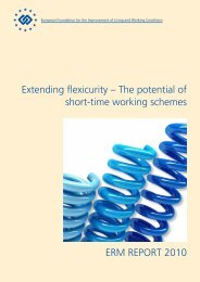 Extending flexicurity – The potential of short-time ... - Eurofound
