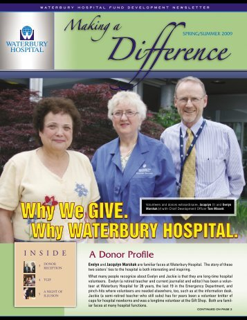 A Donor Profile - Waterbury Hospital