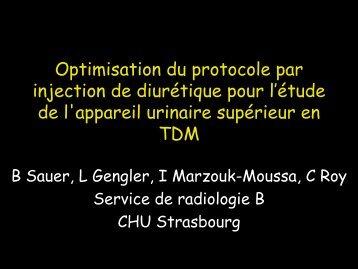Optimisation du protocole par injection de diurétique pour l'étude de ...