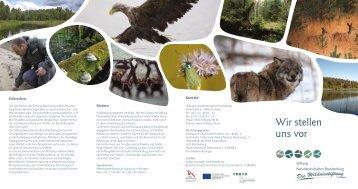Wir stellen uns vor - Stiftung Naturlandschaften Brandenburg