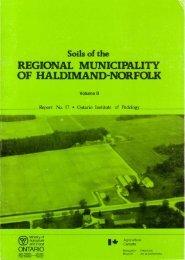 REGIONAL MUNICIPALITY OF HALDIMAND=NORFOLK Soils of the