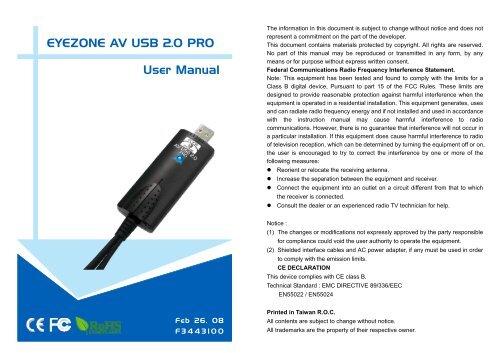 EYEZONE AV USB 2.0 WINDOWS 8 X64 DRIVER DOWNLOAD