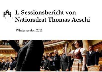 Wintersession 2011 - Thomas Aeschi