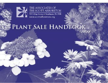 Handbook - The Scott Arboretum of Swarthmore College
