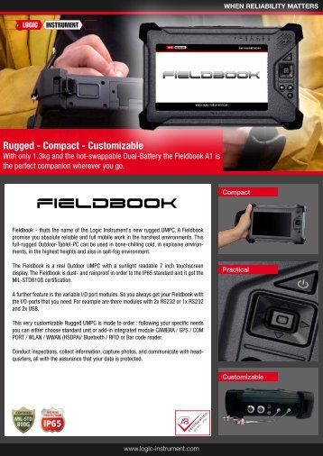 LCD display - Fieldbook A1