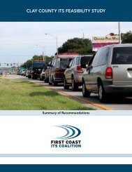 Clay County ITS Feasibility Study Summary ... - North Florida TPO