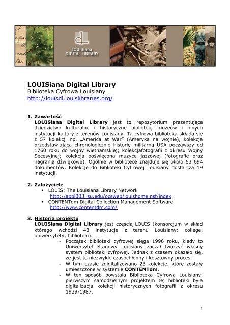 Louisiana Digital Library - Fidkar