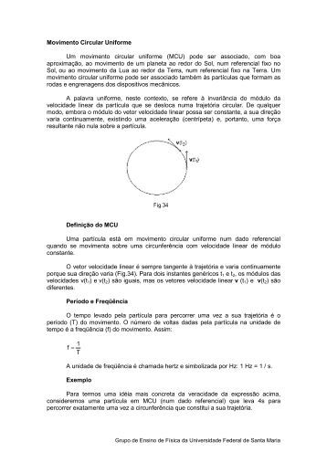 Movimento Circular Uniforme - UFSM