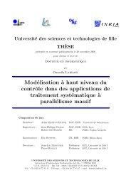 Modélisation `a haut niveau du contrôle dans des applications ... - LIFL