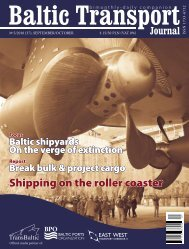Shipping on the roller coaster - Baltic Press