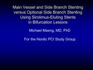 Main Vessel and Side Branch Stenting versus Optional ... - Bifurc.net