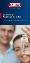 Einer für alle! Abus single-Key-system
