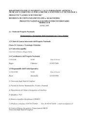 Ripartizione Spese della Linea di Azione 1 - DipCIA - Università ...