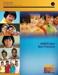 AMBER Alert Best Practices - Office of Juvenile Justice and ...