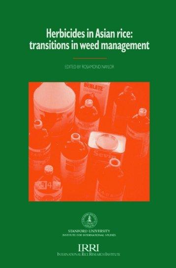 HERBICIDES in Asian rice - IRRI books - International Rice ...