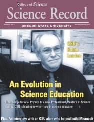 An Evolution in Science Education - Physics at Oregon State ...