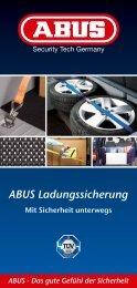 Das gute Gefühl der Sicherheit ABUS Ladungssicherung