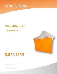 What's new in Mail Attender 5.0 - Sherpa Software