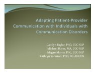 Adapting Patient-Provider Communication with Individuals with ...