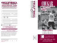 V O L L E Y B A L L - Clearwater Christian College