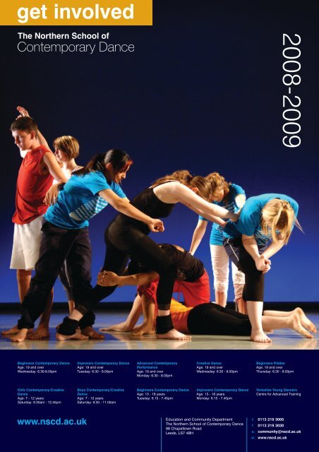 get involved - Northern School of Contemporary Dance