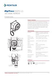 e507s-ls - Pentair Thermal Management