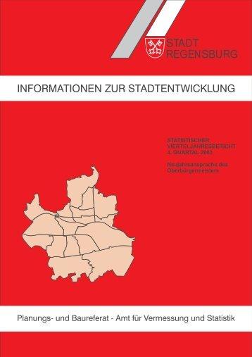 informationen zur stadtentwicklung - Statistik.regensburg.de