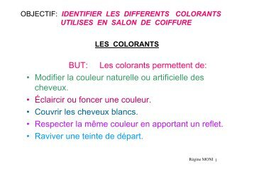 colorants et structure