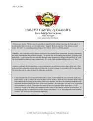 1948-1952 Truck - Custom IFS Kit - Total Cost Involved