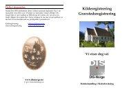 Kilderegistrering Gravstedsregistrering - DIS-Norge