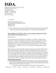 Letter to Central Bank of Chile - ISDA